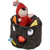 Peluche musicale T'es Fou Louloup chaperon rouge (30 cm) - Ebulobo