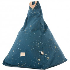 Pouf Keops frome triangle Gold stella Night blue