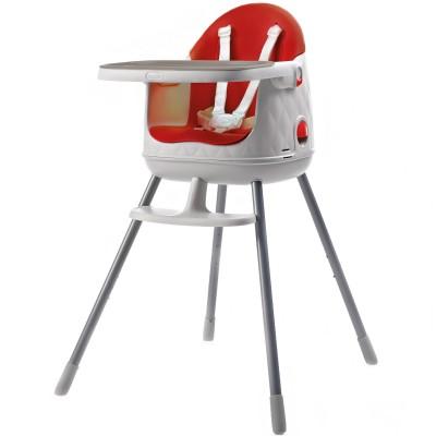 chaise haute transformable en r hausseur multi dine rouge. Black Bedroom Furniture Sets. Home Design Ideas