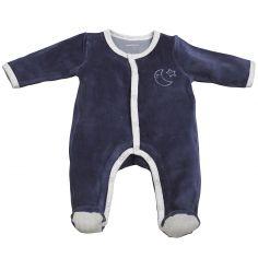Pyjama chaud Merlin bleu marine (1 mois)
