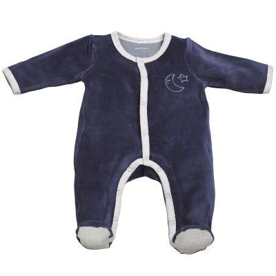 Pyjama chaud Merlin bleu marine (1 mois)  par Sauthon