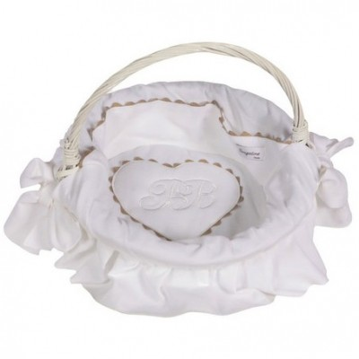 Corbeille Emma blanc  par Nougatine