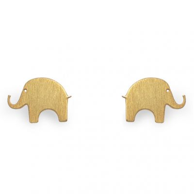 Boucles d'oreilles Nature éléphant (vermeil doré)  par Coquine