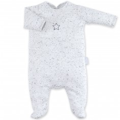 Pyjama léger jersey Cosmi gris plum (3-6 mois : 60 à 67 cm)