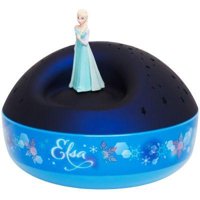 Veilleuse projecteur d'étoiles musical Elsa La Reine des Neiges  par Trousselier