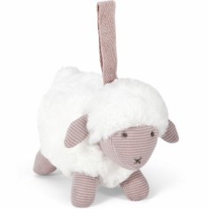 Peluche à suspendre Welcome to the World mouton rose