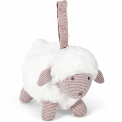 Peluche à suspendre Welcome to the World mouton rose  par Mamas and Papas