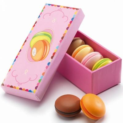 Boîte de 6 macarrons  par Djeco