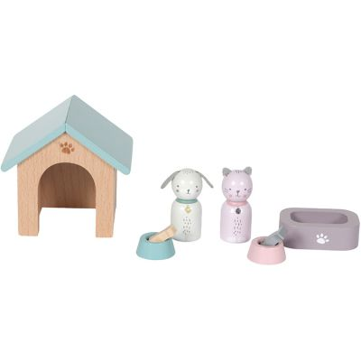 Niche chien et chat et accessoires en bois  par Little Dutch