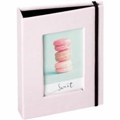 Mini album pour photos polaroid rose (20 photos)