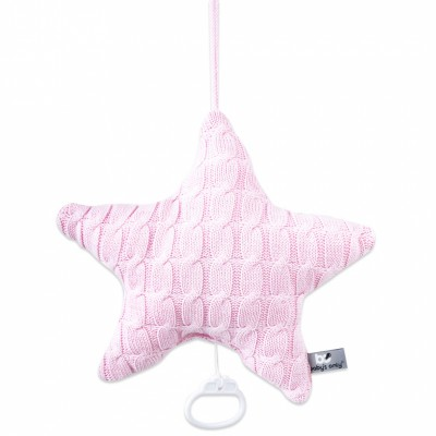Coussin musical étoile Cable Uni rose (30 cm) Baby's Only