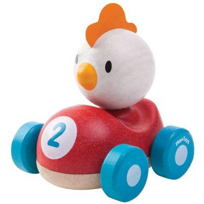 Piou le coq de course Plan Toys