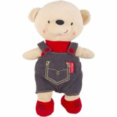 Peluche ours garçon Life in the air (30 cm) - Tuc Tuc