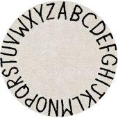 Tapis lavable rond abc naturel noir (diamètre 150 cm) - Lorena Canals