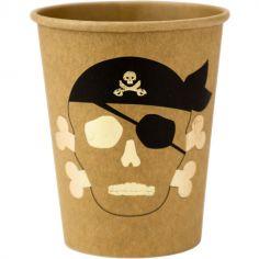 Lot de 8 gobelets en carton Pirate