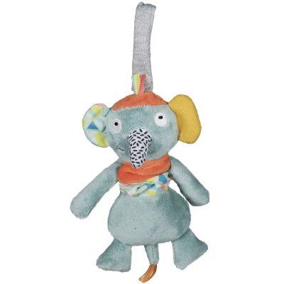Jouet vibrant à suspendre Ziggy l'éléphant  Jungle Boogie  par Ebulobo