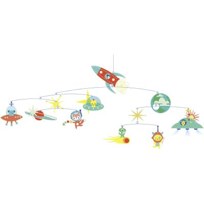 Mobile décoratif phosphorescent Espace  par Djeco
