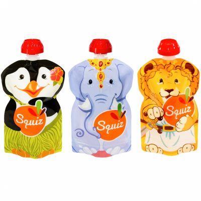 Pack 3 gourdes réutilisables Carnaval (130 ml)  par Squiz