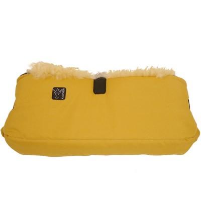 Protège mains en peau d'agneau Big double jaune Kaiser