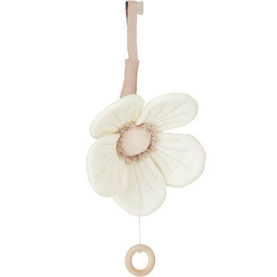 Mobile musical fleur Windflower crème  par Cam Cam Copenhagen
