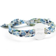 Bracelet Liberty ruban maman family personnalisable (argent 925°)