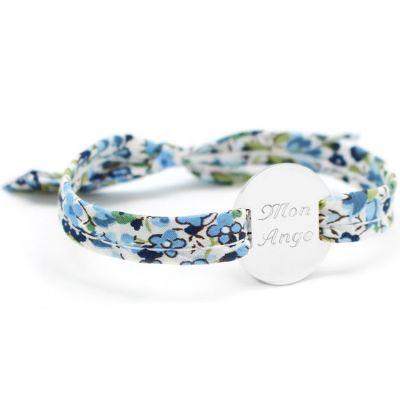 Bracelet Liberty ruban maman family personnalisable (argent 925°)  par Petits trésors