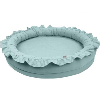 tapis de jeu cocon vert d 39 eau basic cotton sweets. Black Bedroom Furniture Sets. Home Design Ideas