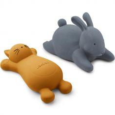 Lot de 2 jouets de bain Vikky Cat mustard