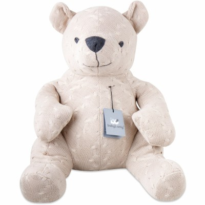 Peluche ourson Cable Uni beige (55 cm) Baby's Only