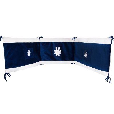 Tour de lit Ange Lapin bleu marine (pour lits 60 x 120 cm et 70 x 140 cm)  par Trousselier