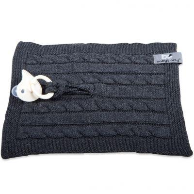 Attache sucette Cable Uni gris anthracite  par Baby's Only
