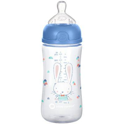 Biberon col large anti-colique emotion sweet bunny bleu (270 ml)  par Bébé Confort