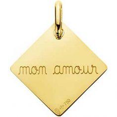 Pendentif Mon amour (or jaune 750°)