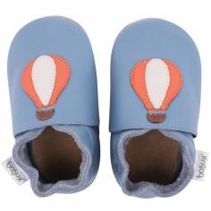Chaussons en cuir Soft soles bleu montgolfière (3-9 mois)