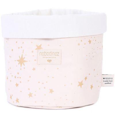 Panier de toilette Panda Gold stella Dream pink (20 x 24 cm)  par Nobodinoz