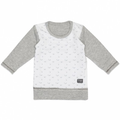 Tee-shirt réversible Lovely Grey (4-6 mois)  par Snoozebaby