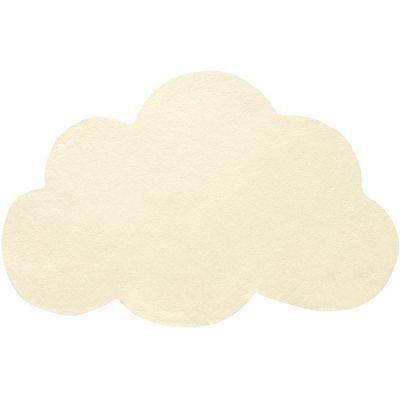 Tapis coton nuage jaune clair (67 x 100 cm)  par Lilipinso