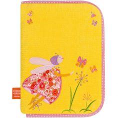 Protège carnet de santé Luciole aux papillons