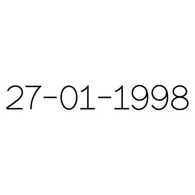 Gravure date en chiffres sur bijou (Typo 1 Franckin)  par Gravure magique