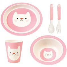 Coffret repas en bambou Cookie le chat (5 pièces)