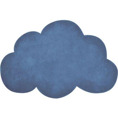 Tapis nuage en coton bleu foncé (67 x 100 cm) Lilipinso