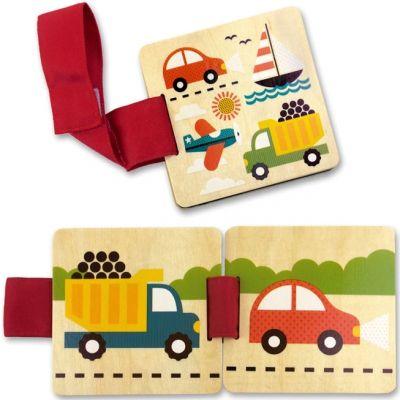 Livre en bois En route pour poussette (6 pages) Petit Collage