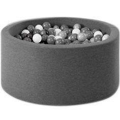 Piscine à balles ronde gris foncé personnalisable (90 x 30 cm)