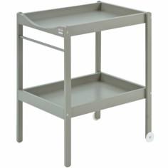 Table à langer Alice en bois massif laqué gris clair