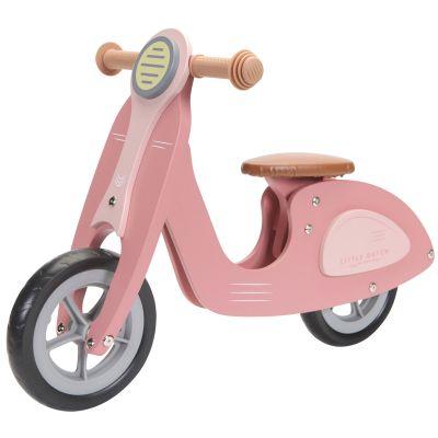 Draisienne scooter en bois pink  par Little Dutch