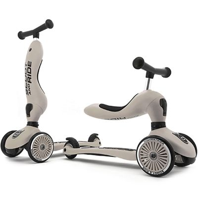 Porteur évolutif en trottinette Highwaykick 1 beige  par Scoot And Ride