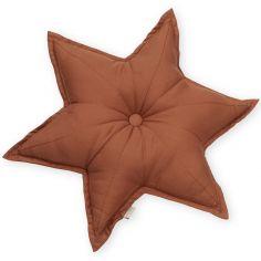 Coussin étoile caramel (48 cm)