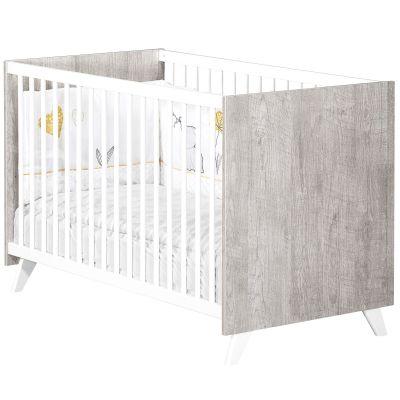 Lit à barreaux Scandi gris (60 x 120 cm)  par Baby Price