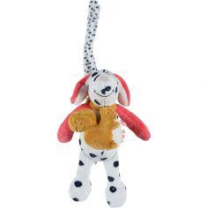 Doudou musical à suspendre Zoé et écureuil veloudoux Amy & Zoé chien rose (22 cm)