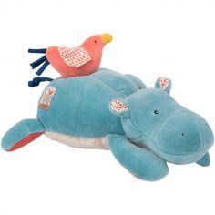 Peluche musicale hippopotame Les Papoum (25 cm)